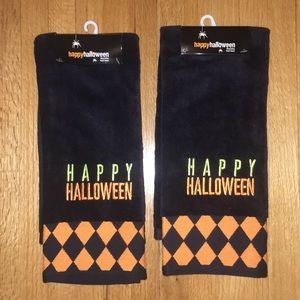 NWT Happy Halloween Hand Towels Set of 2